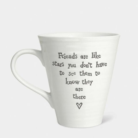 'FRIENDS ARE LIKE STARS...' CONICAL MUG