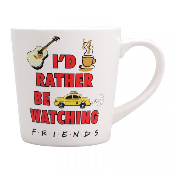 FRIENDS I'D RATHER BE WATCHING FRIENDS TAPERED MUG