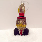 GENT HARE GLASS DECORATION