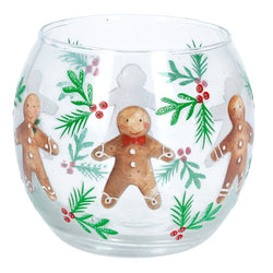 Gingerbread Men Glass Nite Lite