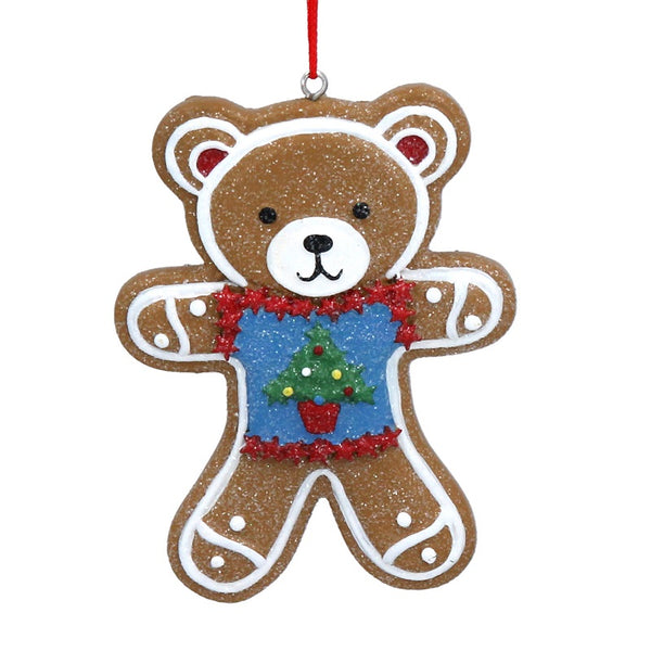 Gingerbread Teddy in Jumper Decoration