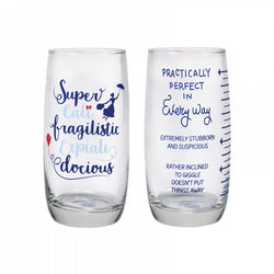 MARY POPPINS PRACTICALLY PERFECT SET OF 2 GLASSES
