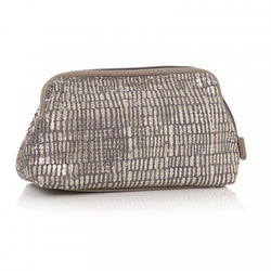 TA DA GREY SEQUIN COSMETIC BAG