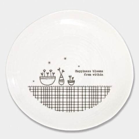 'HAPPINESS BLOOMS FROM WITHIN' WOBBLE PLATE