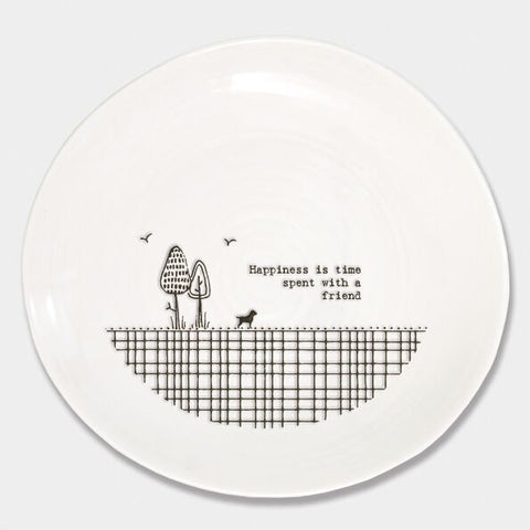 'HAPPINESS IS TIME SPENT WITH A FRIEND' WOBBLE PLATE
