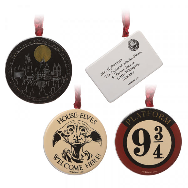 HARRY POTTER DECORATIONS SET OF 4
