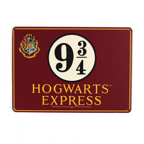 HARRY POTTER PLATFORM 9 AND 3/4 METAL SIGN