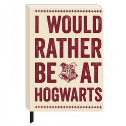 HARRY POTTER 'RATHER BE AT HOGWARTS' A5 NOTEBOOK