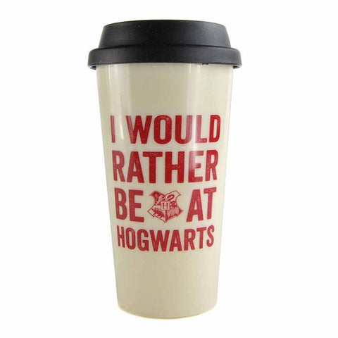 HARRY POTTER HOGWARTS SLOGAN TRAVEL MUG