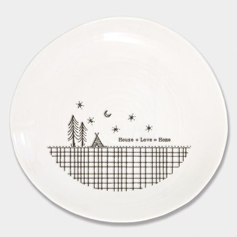 'HOUSE + LOVE = HOME' WOBBLE PLATE
