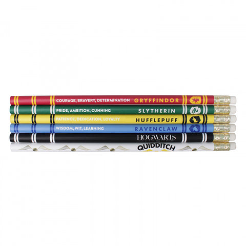 HARRY POTTER SET OF 6 HOUSE PRIDE PENCILS