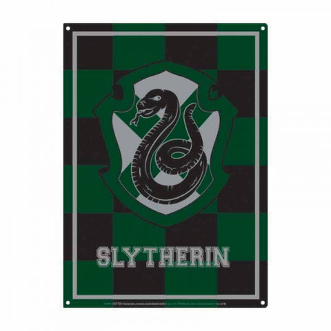 HARRY POTTER SLYTHERIN VARSITY CREST SMALL METAL SIGN