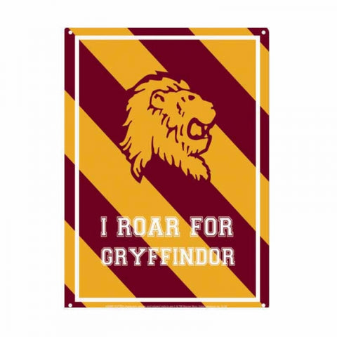 HARRY POTTER GRYFFINDOR VARSITY SMALL TIN SIGN