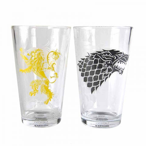 GAME OF THRONES SET OF 2 LARGE GLASSES