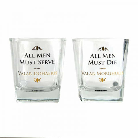 GAME OF THRONES SET OF 2 GLASS TUMBLERS