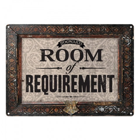 HARRY POTTER ROOM OF REQUIREMENTS METAL WALL SIGN