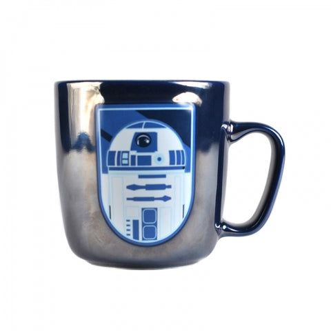 STAR WARS R2 D2 EMBOSSED METALLIC MUG