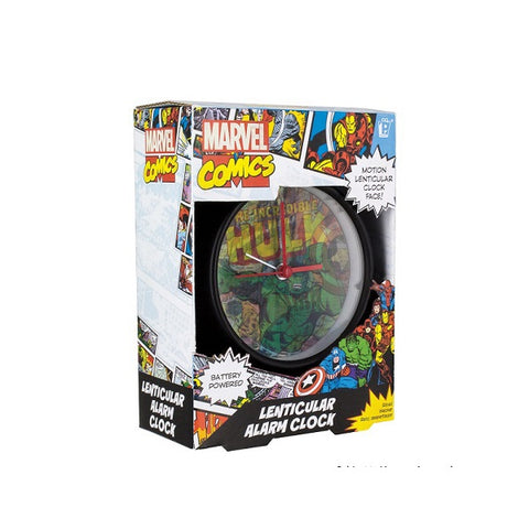 MARVEL COMIC LENTICULAR ALARM CLOCK