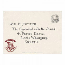 HARRY POTTER LETTERS A5 TIN SIGN