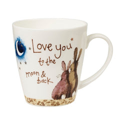 LOVE YOU TO THE MOON AND BACK CHINA MUG