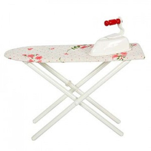 METAL IRON AND IRONING BOARD