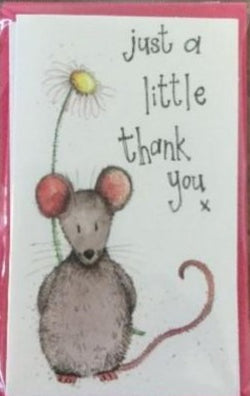 THANK YOU MOUSE NOTELETS (5 PACK)
