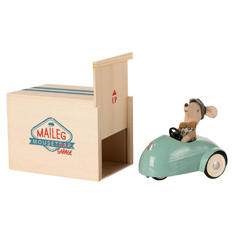 Maileg Mouse Car with Garage - Blue