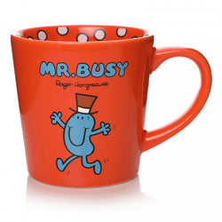 MR BUSY TAPERED MUG