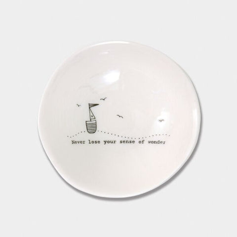 'NEVER LOSE YOUR SENSE OF WONDER' WOBBLE BOWL