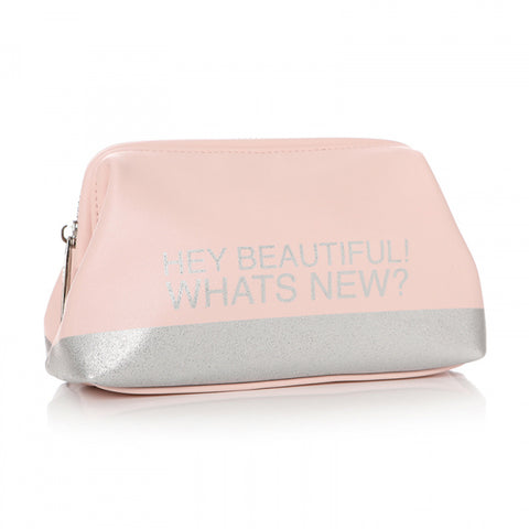 'HEY BEAUTIFUL! WHATS NEW' COSMETIC BAG