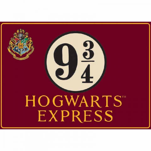 HARRY POTTER PLATFORM 9 3/4 LARGE METAL SIGN