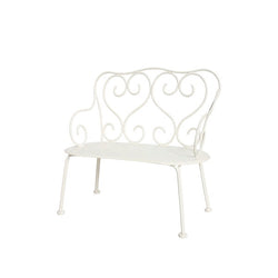 MAILEG MINI ROMANTIC BENCH, OFF WHITE