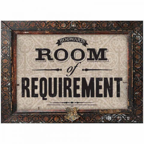 HARRY POTTER ROOM OF REQUIREMENTS LARGE METAL WALL SIGN
