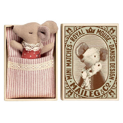 SLEEPY WAKEY BABY MOUSE IN MATCHBOX