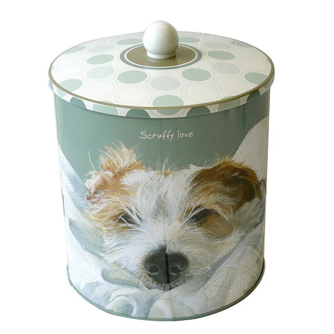 SCRUFFY LOVE BISCUIT BARREL