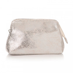 TA DA SILVER METALLIC COSMETIC BAG