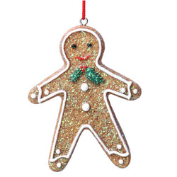 Gingerbread Man with Holly Decoration