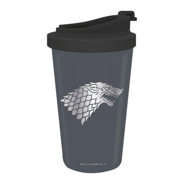 GAME OF THRONES STARK WINTER IS COMING TRAVEL MUG