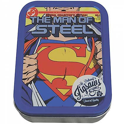 SUPERMAN (MAN OF STEEL) JIGSAW PUZZLE IN A TIN