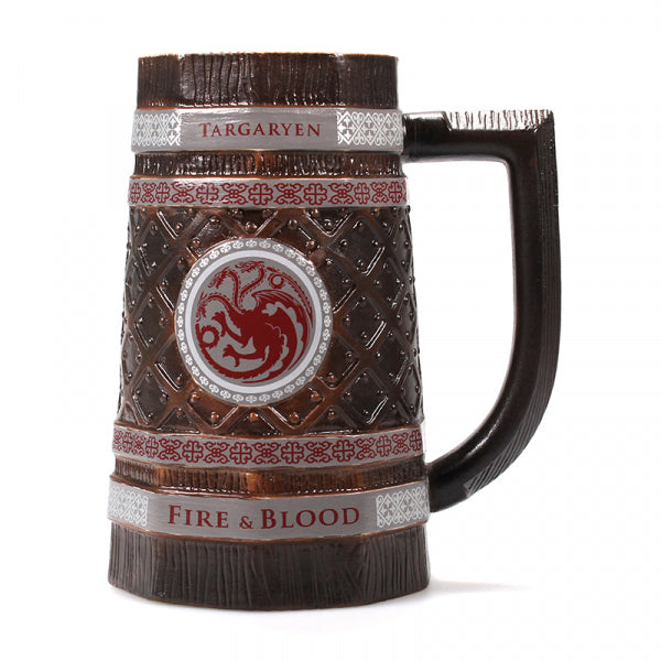 GAME OF THRONES TARGARYEN EMBOSSED STEIN MUG