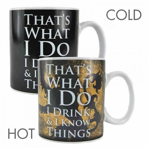 GAME OF THRONES TYRION LANNISTER HEAT CHANGE MUG
