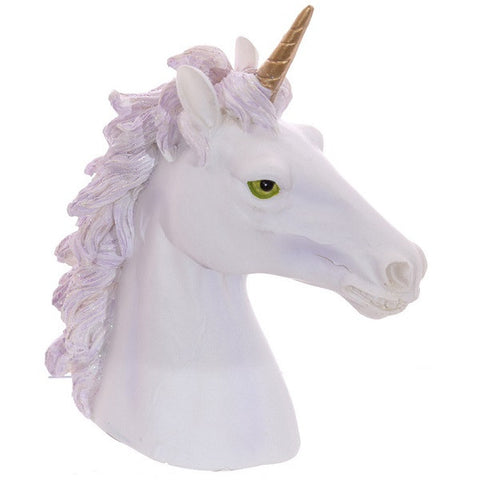 DECORATIVE UNICORN BUST ORNAMENT