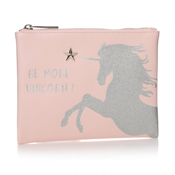 BE MORE UNICORN! COSMETIC BAG
