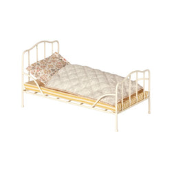 MAILEG MINI VINTAGE BED, OFF WHITE
