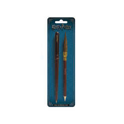 HARRY POTTER WAND AND BROOM PEN AND PENCIL SET
