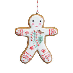 Nordic 'Iced' Gingerbread Man Decoration