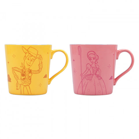 TOY STORY SET OF 2 WOODY AND BO PEEP TAPERED MUGS