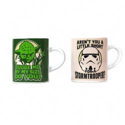 STAR WARS SET OF 2 MINI MUGS - YODA AND STORMTROOPER