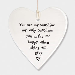YOU ARE MY SUNSHINE CERAMIC HEART