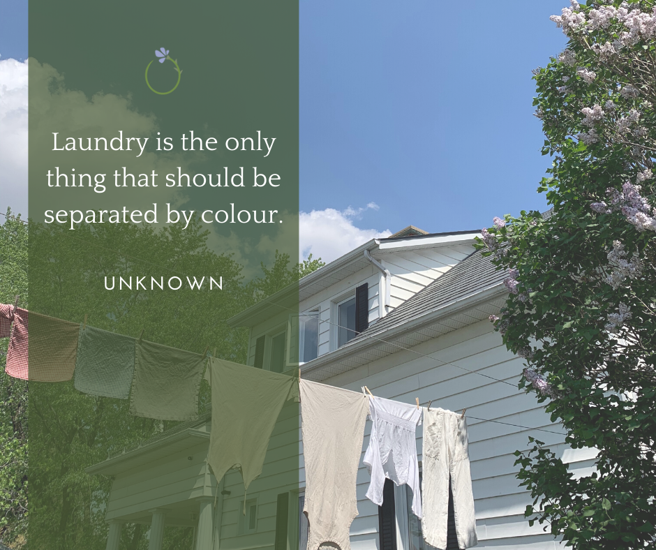Laundry is the only thing that should be separated by colour